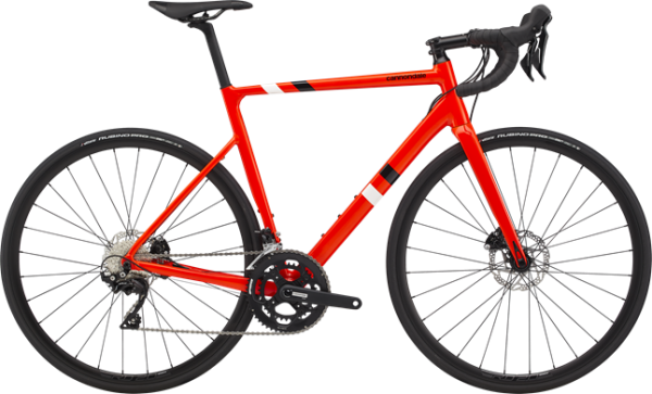 cannondale CAAD13 105 DISC, neon rot (AGR)