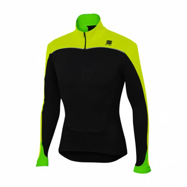 Sportful Force Thermal Jersey, schwarz-neon